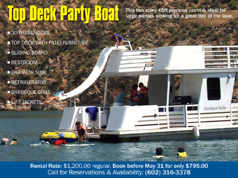 Bartlett Lake AZ Memorial Day Party Boat Special: Click Here