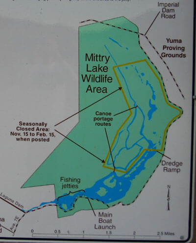 Mittry Lake Map