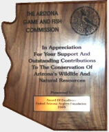 United Arizona Anglers Foundation AZGFD Award