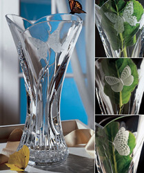 Waterford Butterfly Vase