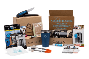 The CAIRN outdoor-gear subscription is a gift that keeps on giving month after month. These three boxes show you the kinds of gear you can expect.