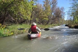 Here's John heading into one of the rapids.