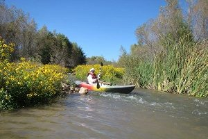 This is me coming out of a rapids. Look at those flowers!