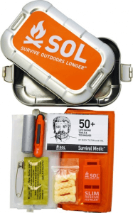 SOL= Survive Outdoors Longer. They have a variety of excellent survival kits tailored for your needs.