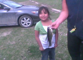 Lucy Eagle Hawk First Catch
