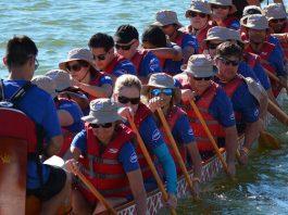 Dragon Boats On Tempe Town Lake