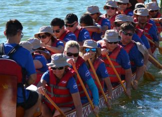 Dragon Boats On Tempe Town Lake