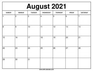 Downstream Events Calendar August 2021